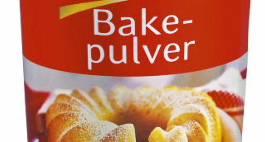 BAKEPULVER: Fungerer bra på blant fastbrente matrester. Foto: Kraft Foods Norge AS