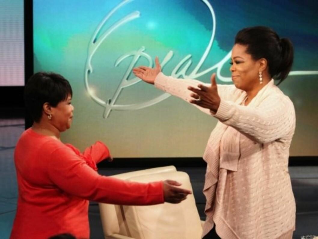NYE SØSTRE: Oprah og den ny år yngre lillesøsteren Patricia har visst om hverandre siden november. Foto: All