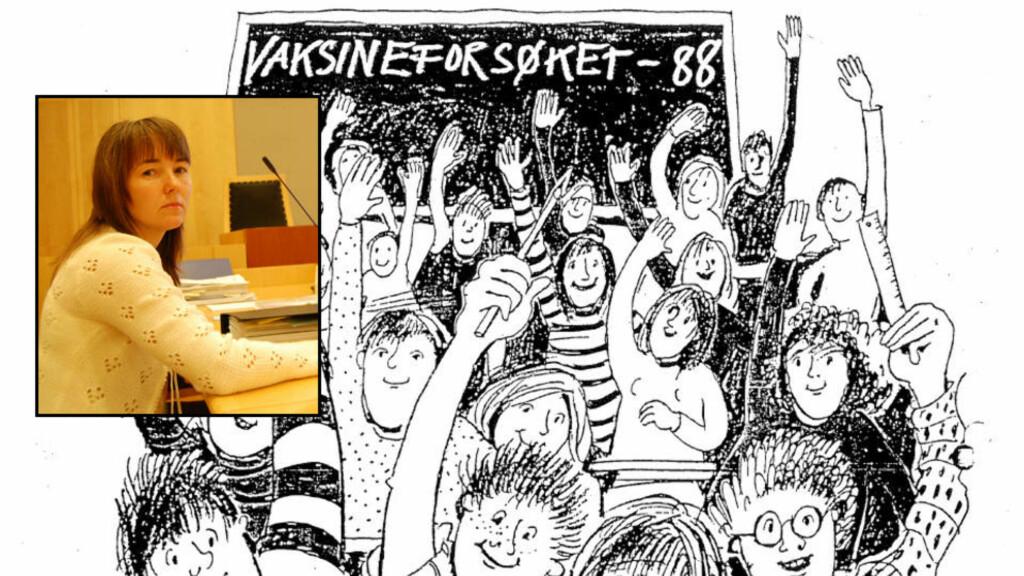 VAKSINEFORSØK: 180 000 ungdomsskoleelever deltok i et vaksineforsøk mot hjernehinnebetennelse mellom 1988 og 1991. Mer enn 300 personer har reist krav om erstatning fordi de mener vaksina utløste ME-sykdom. Nå kjemper Anne May Eknes (34) i retten for seg og andre vaksineofre. Foto: Statens institutt for folkehelse/Asle Hansen