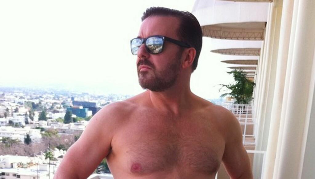 SLANKET SEG: Ricky Gervais har den siste tiden gått ned 10 kilo. Foto: All Over Press