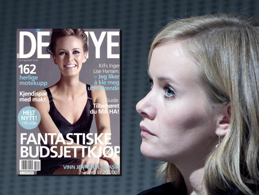 SKAPTE BRÅK: Dette coveret i Det Nye skapte mye bråk for Inger Lise Hansen. - Jeg liker å kle meg utfordrende, er tittelen til bildet.  Foto: SCANPIX