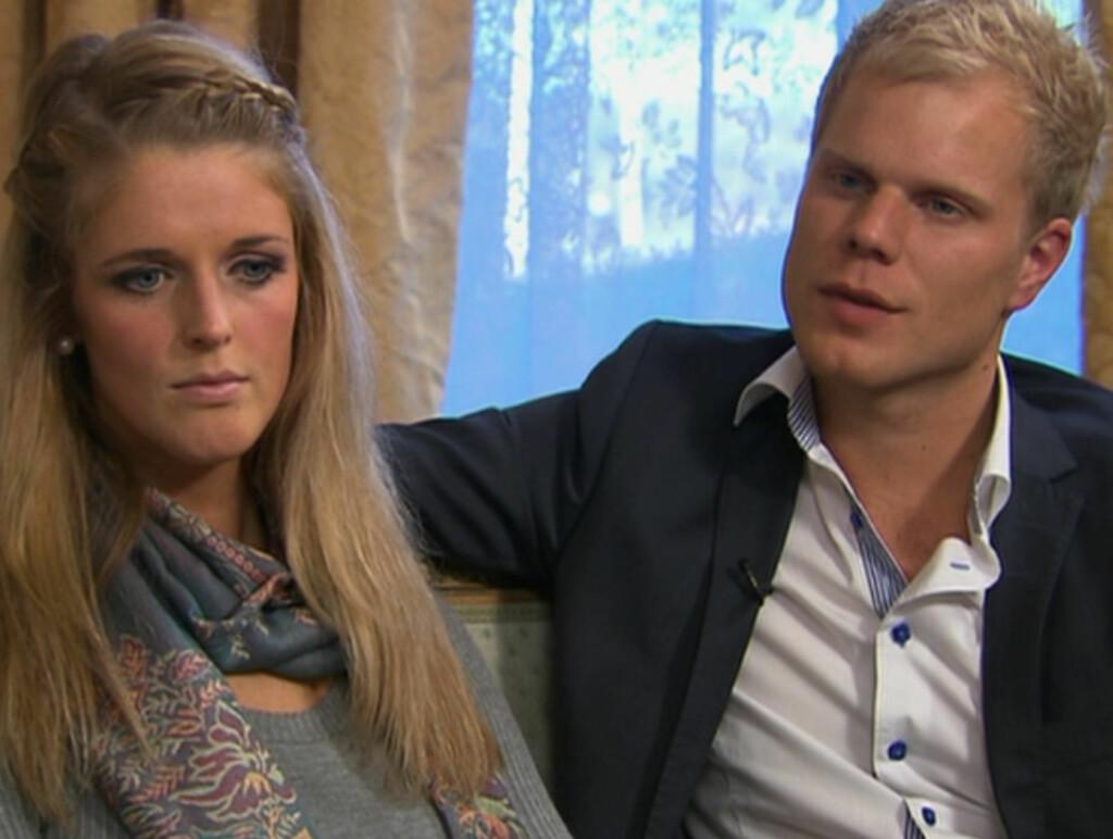 BLE IKKE SAMMEN: Jeanett Vasskog og Christan Fredrik Sandberg valgte å avslutte forholdet. Foto: TV 2