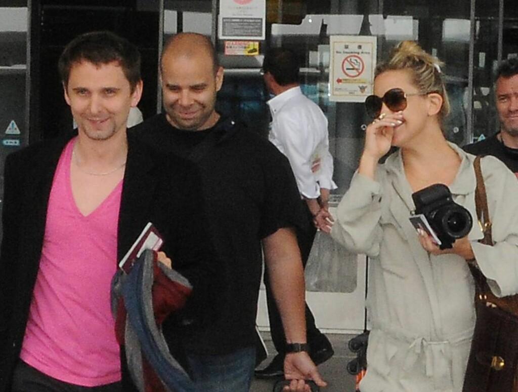 BLIR FORELDRE: Matthew Bellamy og Kate Hudson venter barn ifølge People.com. Foto: All Over Press
