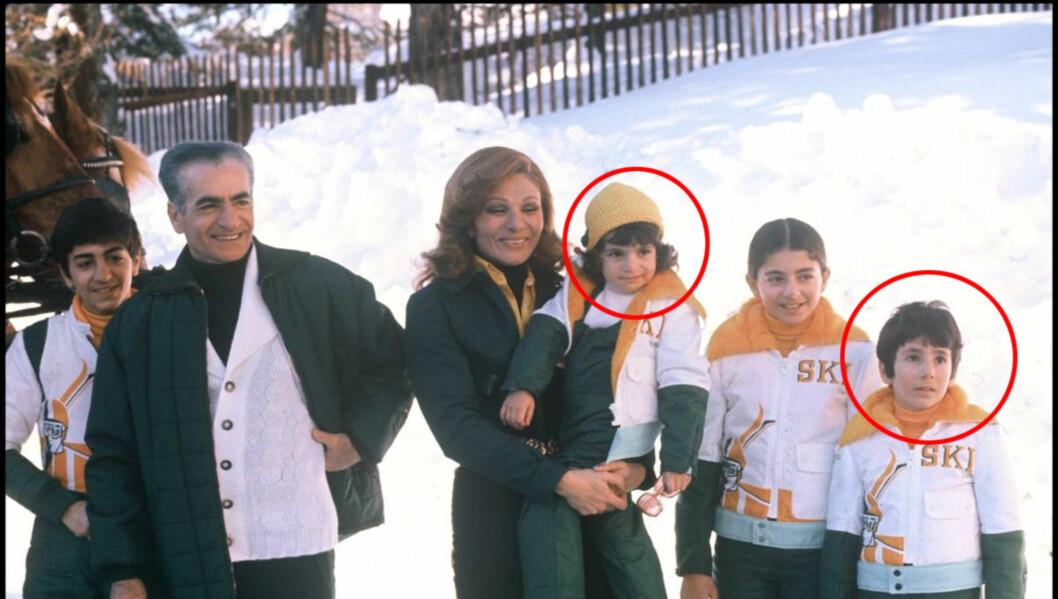 <strong>DEN GANG DA:</strong> Sjahn-familien i lysere tider. Leila Pahlavi sitter her på mamma Farahs arm, og prins Ali-Reza er helt til høyre på bildet. Mohammed Reza Pahlavi til venstre.