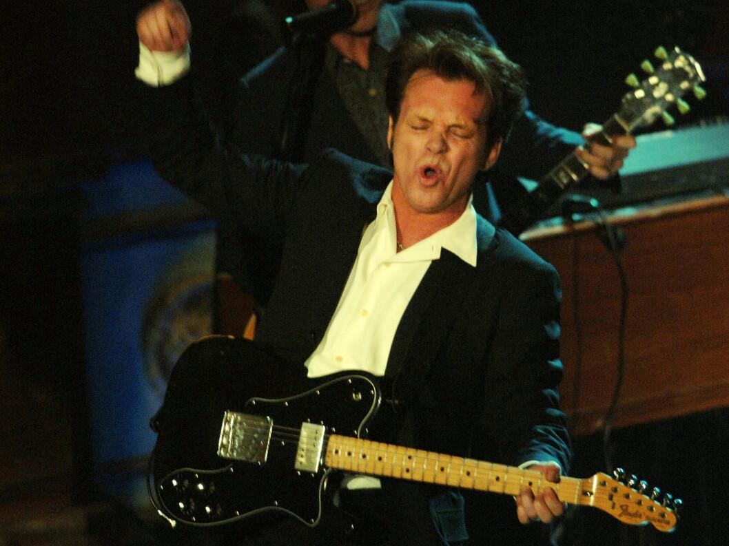 STJERNE: I 2008 fikk John Mellencamp sitt navn innskrevet i Rock'n'Roll Hall Of Fame. Foto: Stella Pictures
