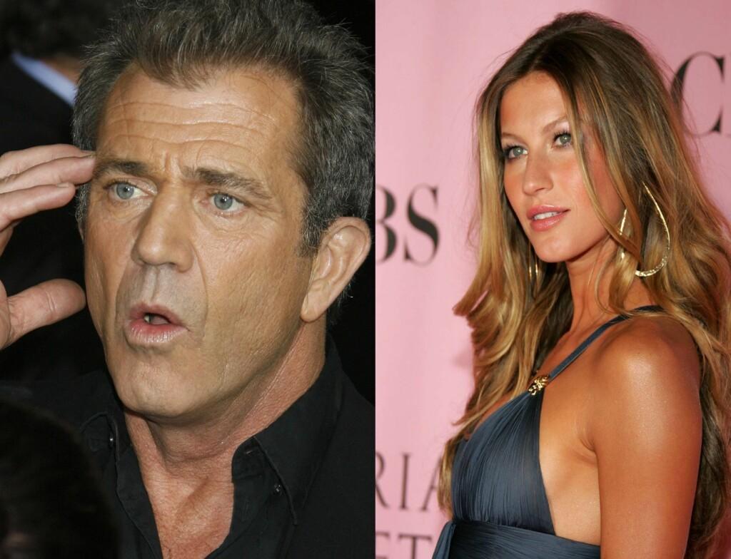 PINLIG: Både Gisele Bundchen og Mel Gibson har vært uheldige med sitatene sine i år.