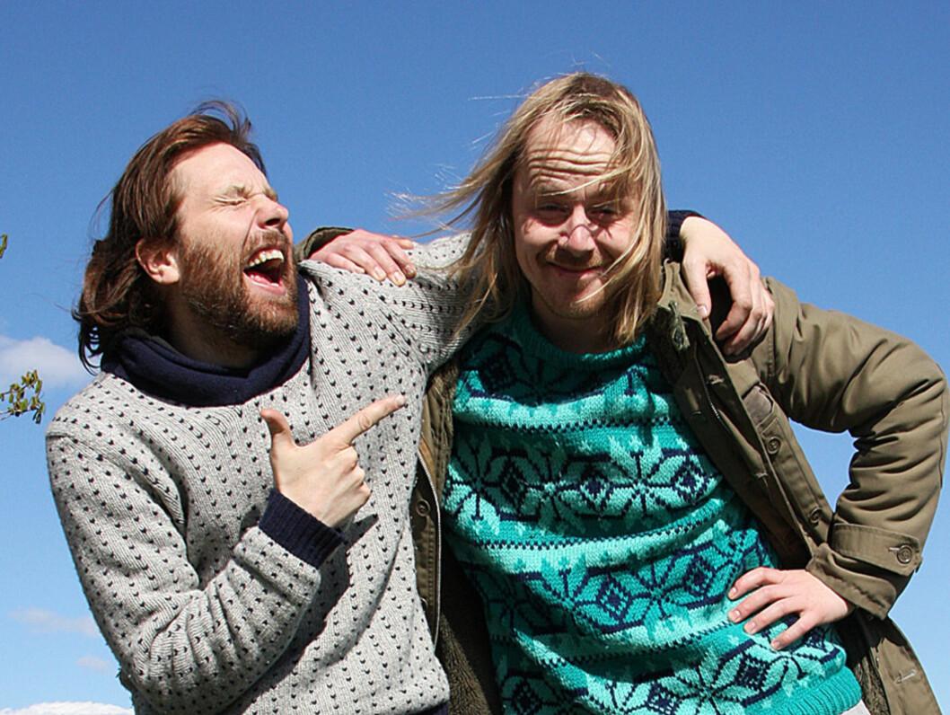SUKSESSDUO: Komikerparet Erlend og Steinjo har i høst hatt ny suksess med serien Påpp & Råkk, Foto: NRK