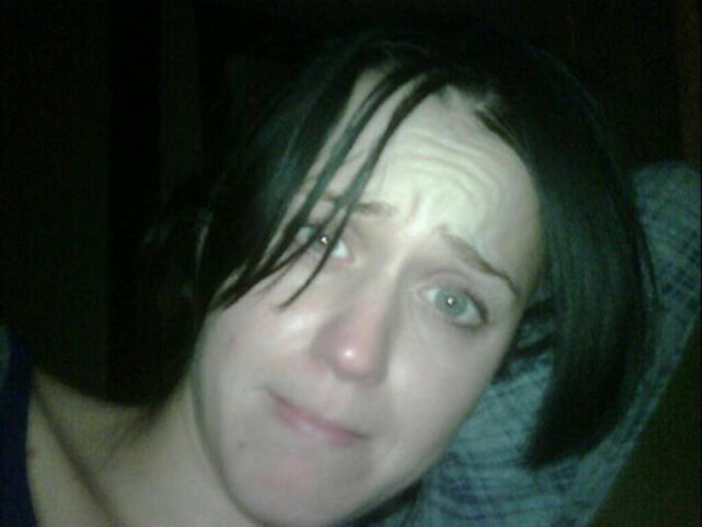 UTILGIVELIG: Kjendismediene raser over at Russell Brand lastet opp dette bildet av Katy Perry på sin egen Twitter-side, før han like etter fjernet det igjen. Foto: Twitter