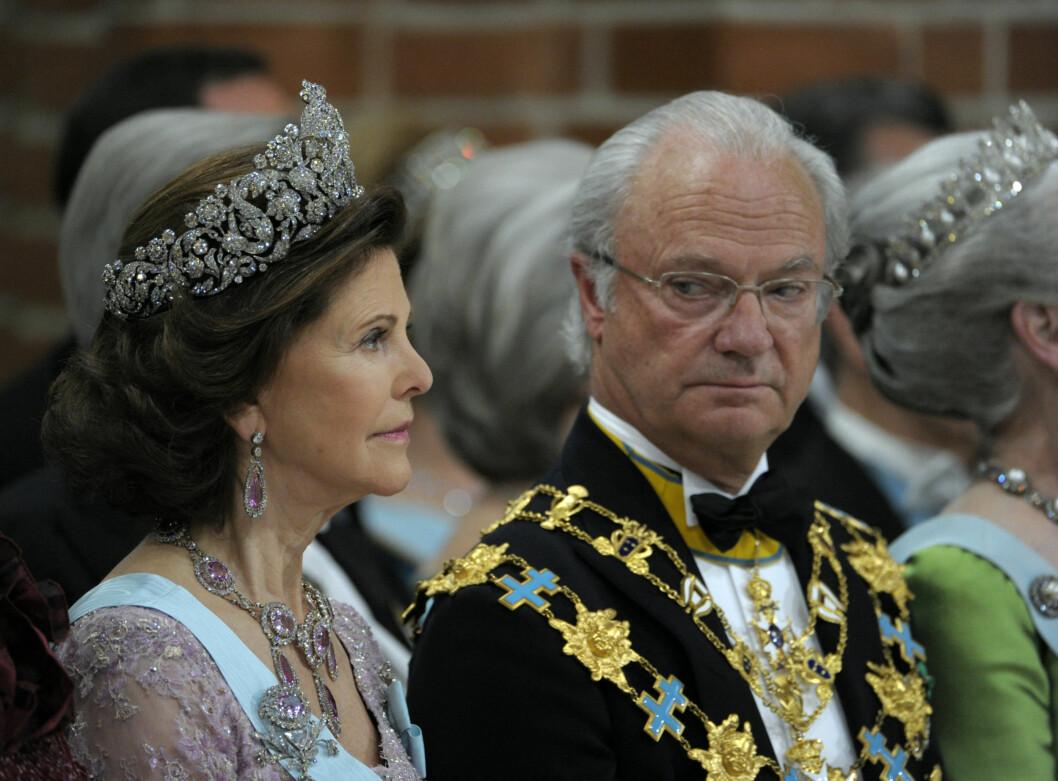 PINLIG: I Carl Gustafs årlige juletale til det svenske folket, hevdet han at jordens befolkning kommer å være tredoblet om 40 år. Dette stemmer ikke. Foto: SCANPIX