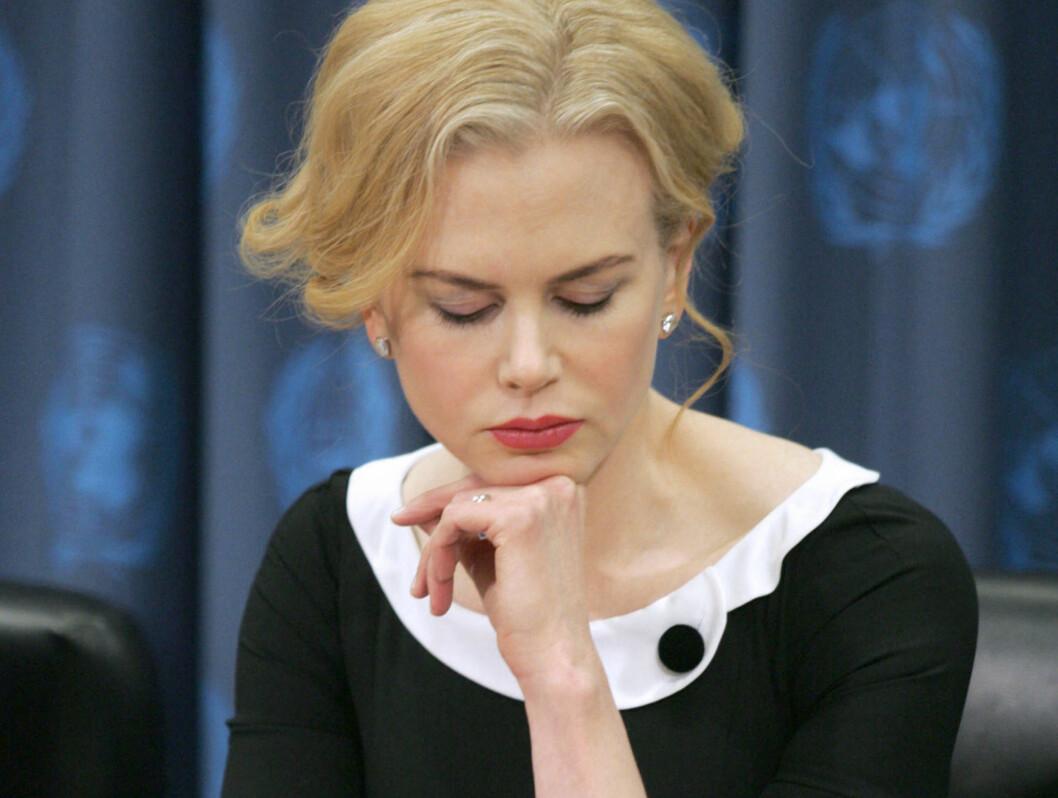 TRIST: Nicole Kidmans barn vil ikke bo sammen med henne. Foto: All Over Press