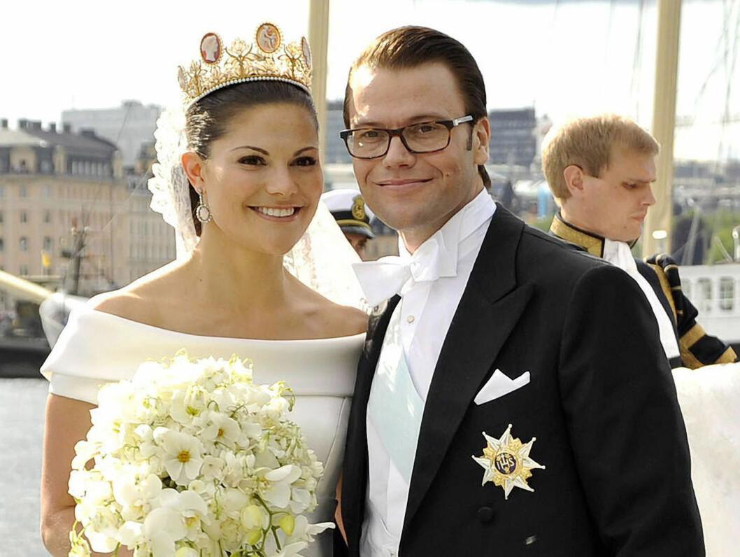 <strong>DET STØRSTE I 2010:</strong> Kronprinsesse Victoria fikk sin Daniel Westling i juni. Foto: Stella Pictures