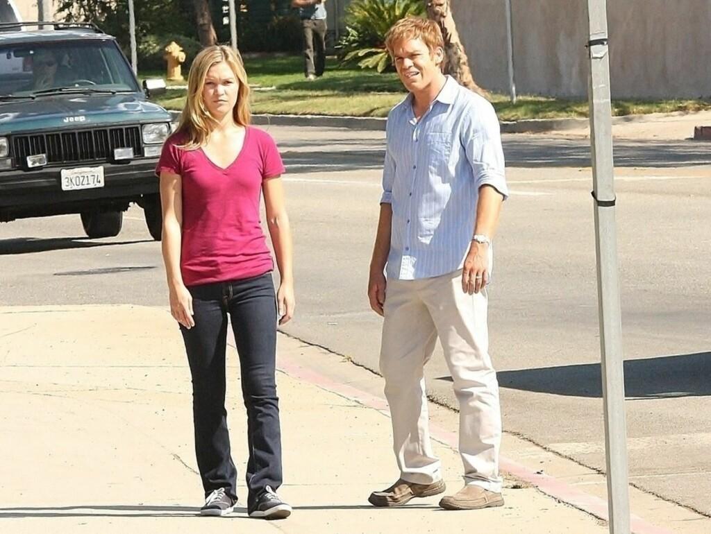NYTT PAR?: Dexter-stjernen Michael C. Hall kobles til medspiller Julia Stiles.  Foto: Stella Pictures