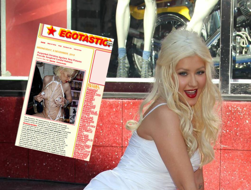 SJOKKBILDER PÅ AVVEIE: - Bildene ble tatt privat - i Aguilera hjem - og ble brukt bare i en personlig utveksling mellom henne og stylisten, sier Christina Aguileras talsperson om sjokkbildene som nå er lekket på nettet. Foto: All Over Press