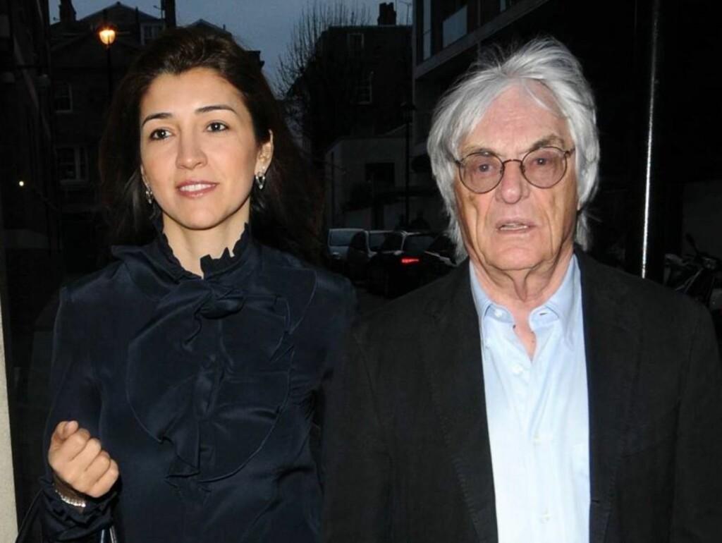 SJOKKERT VITNE: Kjæresten Fabiana Flosi ble torsdag sjokkert vitne til at forretningsmannen og Formel 1-sjefen Bernie Ecclestone ble banket opp og ranet utenfor sitt hjem i London. Foto: Stella Pictures