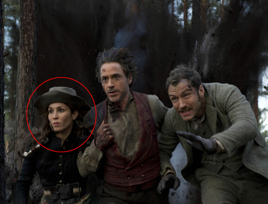FIKK ROLLE I «SHERLOCK HOMES 2»: Noomi Rapace spiller en fransk sigøyner i oppfølgeren. Hennes medskuespillere er superstjernene Robert Downey Jr. og Jude Law - ikke så verst for en jente fra den svenske landsbygda. Foto: PLANET PHOTOS