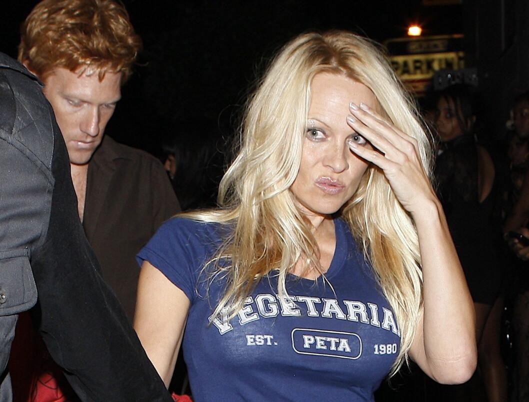 BANNLYST: Pamela Andersons kampanjefilm for PETA er blitt banlyst av overhodene ved flyplassen i Boston i Massachusetts. Foto: All Over Press
