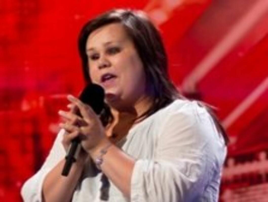 SANGGLAD: Ingrid Haukland imponerte sitt norske publikum stort under årets X Factor på TV 2. Men kom helt til dammercamp, men fikk aldri delta i finalerundene. Foto: TV 2