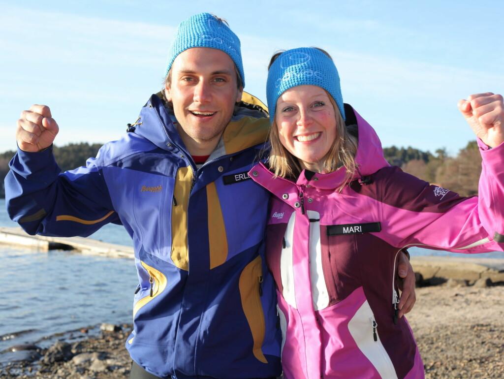 FIKK FORDEL: Erlend Rønning nådde ikke helt opp, og måtte ta til takke med en 3. plass i 71 Grader Nord. Mari Wedum kunne juble over seieren. Foto: TVNorge