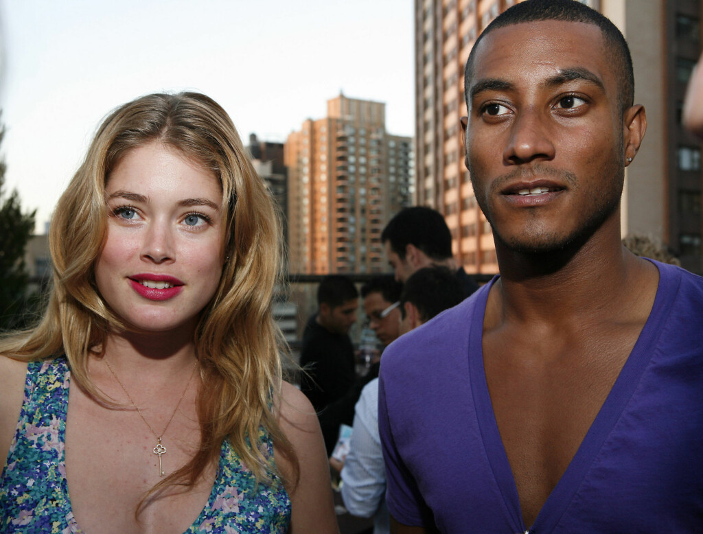 GIFT: Doutzen Kroes giftet seg med Sunnery James på søndag. Foto: All Over Press