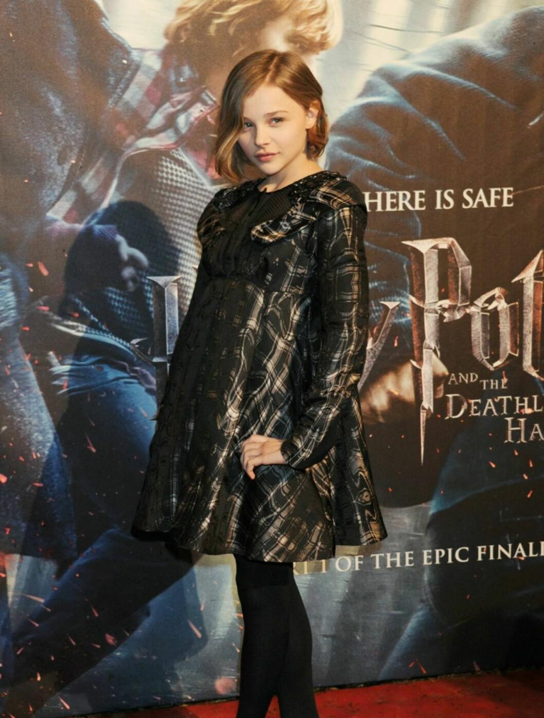 PÅ PREMIERE: Skuespilleren Chloe Moretz har allerede gjort suksess i filmer som «Kick-Ass» til tross for at hun kun er 13 år gammel. Foto: All Over Press