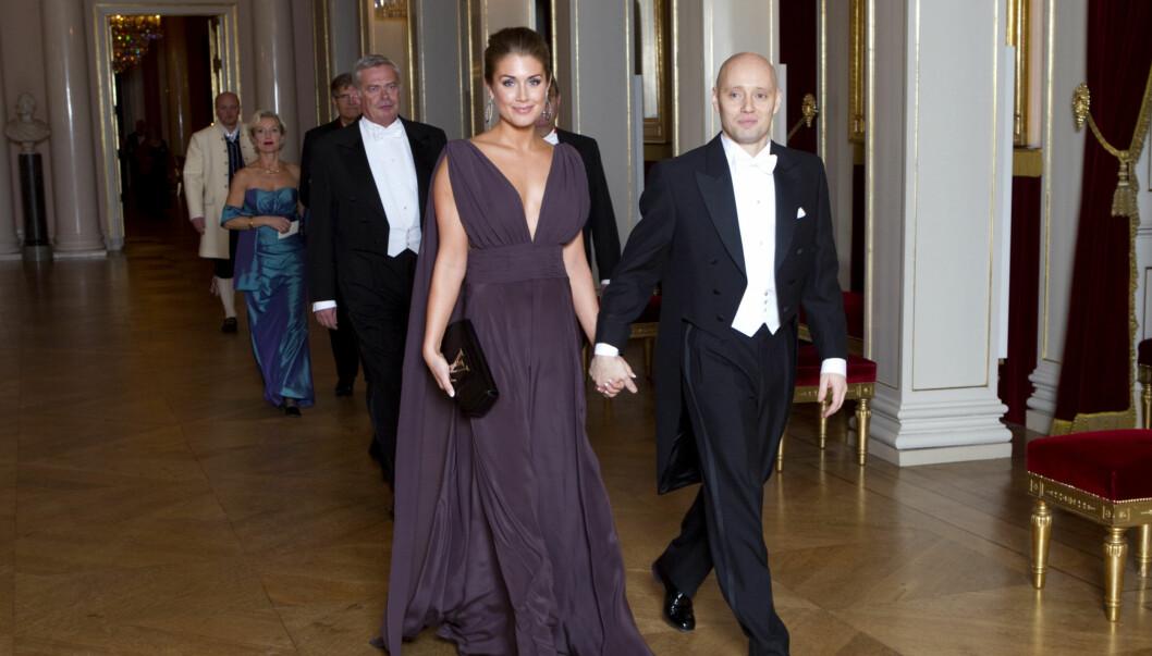 MYSTISK: Tone Damlie Aaberge og Aksel Hennie kommer til gallamiddagen på Slottet torsdag kveld i anledning det sveitsiske statsbesøket. Foto: Cornelius Poppe / SCANPIX