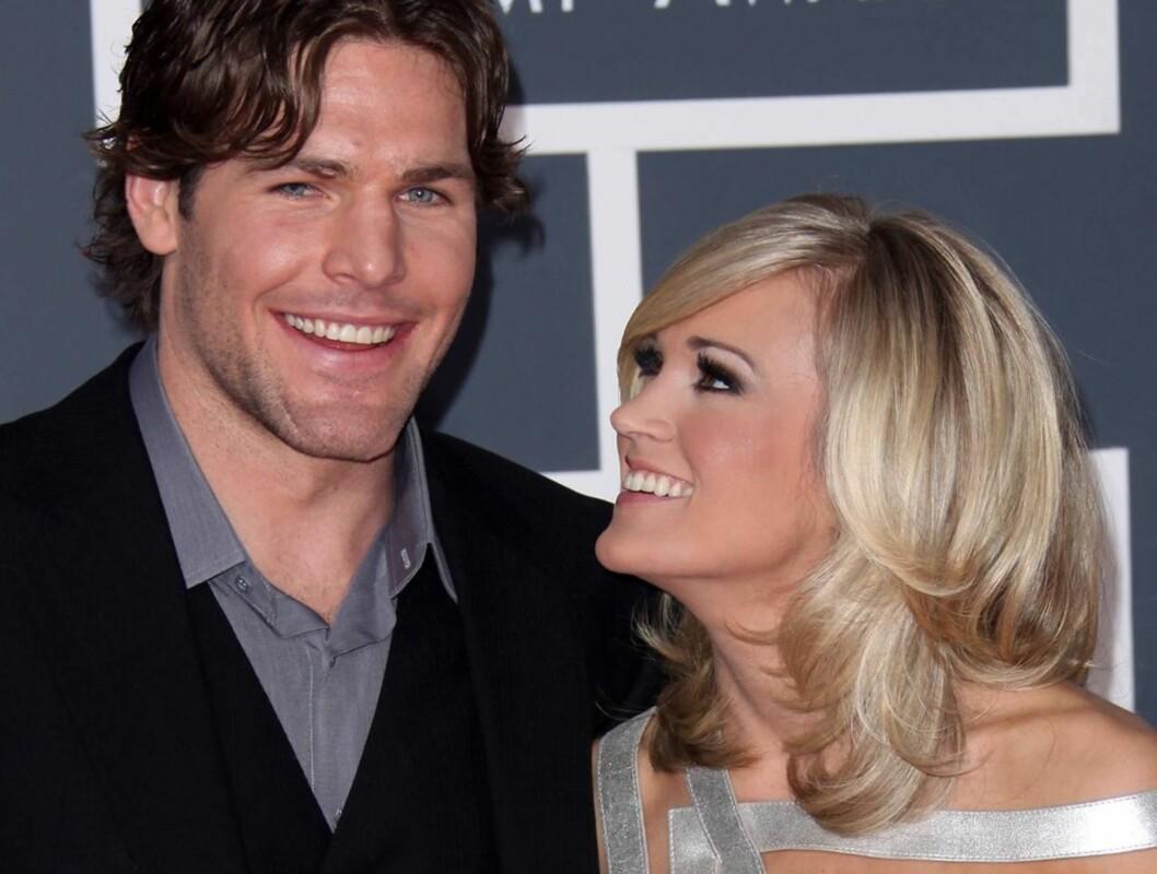 GIFTER SEG LØRDAG: Etter åtte måneders forlovelse, sier popstjernen Carrie Underwood lørdag ja til sin ishockey-kjæreste Mike Fisher. Foto: Stella
