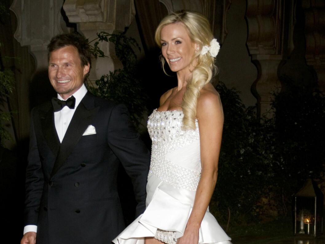 - JEG ELSKER PETTER: Petter Stordalen og Gunhild Melhus ga hverandre sitt ja i går kveld. Foto: SCANPIX
