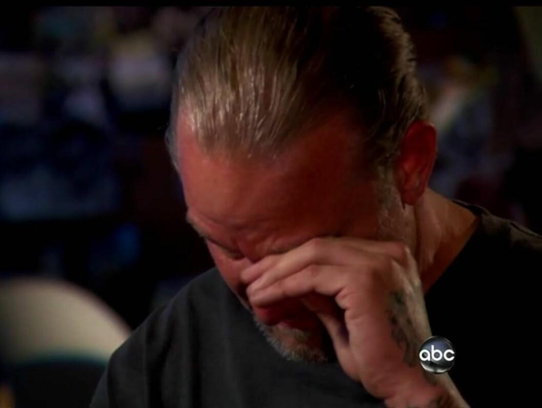 TOK TIL TÅRENE: Den amerikanske TV-stjernen Jesse James begynte å gråte da han fortalte om sin voldelige barndom til ABC-programmet «Nightline» onsdag. Foto: All Over Press