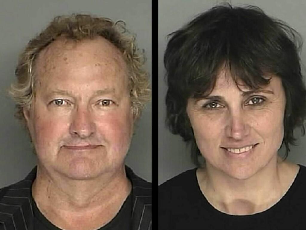 ARRESTERT: Slik så filmstjernen Randy Quaid og kona Evi ut da de ble arrestert av politiet i Santa Barbara tidligere denne uken. Foto: Scanpix