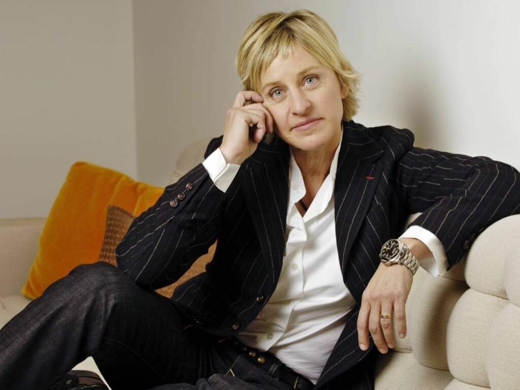 SLET MED OVERSPISING: Ellen DeGeneres slet med overspising da hun var yngre. Men samtidig prøvde hun alltid å slanke bort den overflødige vekten. Foto: AP