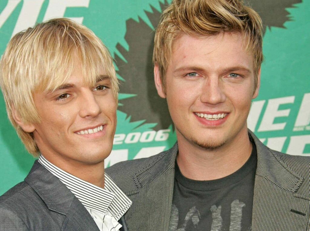 FORLOVET: Aaron Carter, her sammen med sin bror Nick Carter, har forlovet seg. Foto: All Over Press