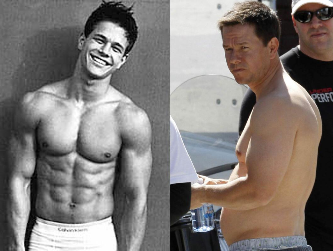 FRA WAHLBERG TIL HVALROSS? Mark Wahlberg var langt mer veltrent da kvinner verden over sperret opp øynene for ham som Calvin Klein-modell på 90-tallet. Nå har han gått kraftig opp til sin nye rolle.