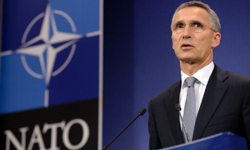 VIL UNNGÅ KONFLIKT: NATO-sjef Jens Stoltenberg sier NATOs mål er å unngå konflikt, ikke å provosere til det. Foto: AFP PHOTO / THIERRY CHARLIER
