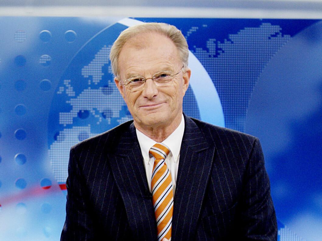 <strong>GAMMEL TRAVER:</strong> Einar Lunde har vært nyhetsanker i over 40 år. Foto: SCANPIX