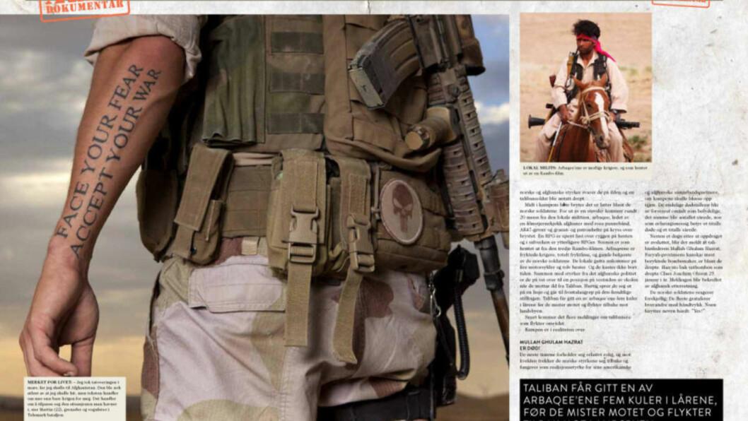 <strong>SJOKKERER:</strong> Norske soldater har i intervjuer med magasinet Alfa kommet med uttalelser som har vakt sterke reaksjoner. Faksimile: Alfa