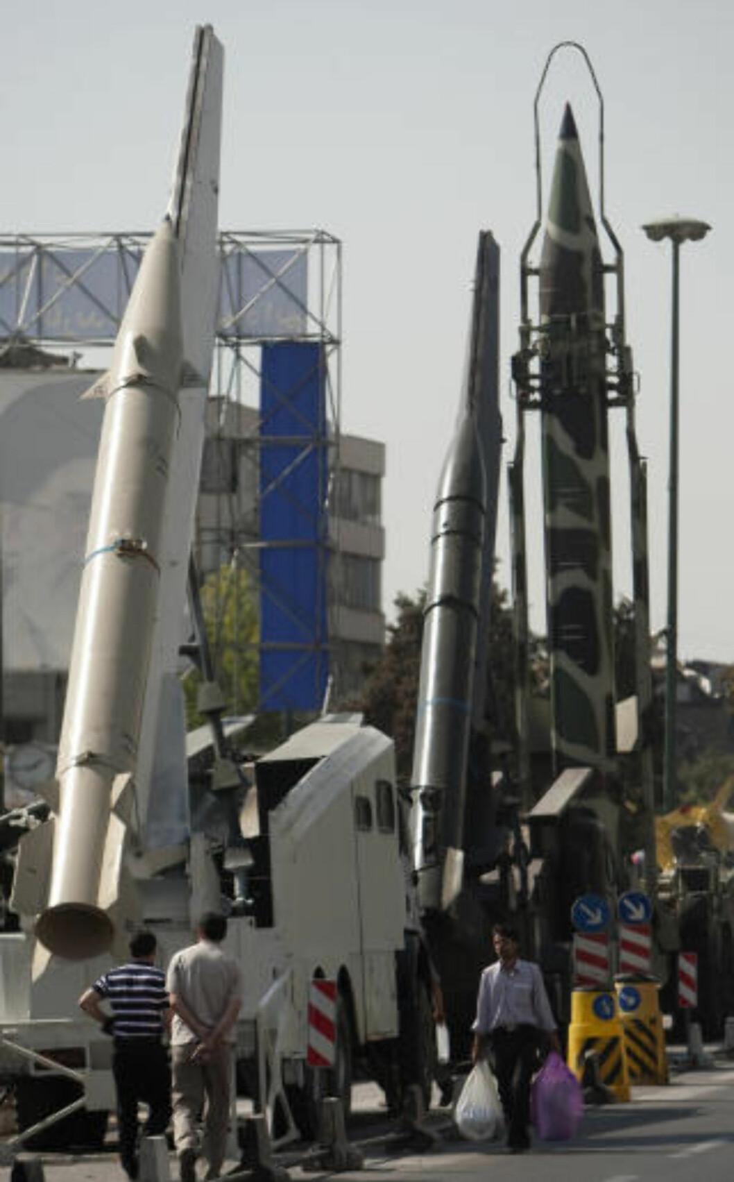 <strong>FRYKT:</strong> Israel frykter at Iran skal utvikle atomvåpen. Her fra en iransk militærparade. Foto: Reuters