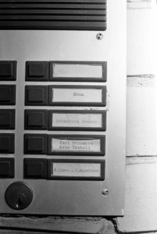 KJØPTE NABOLEILIGHETEN: POT installerte seg med spanere og overvåkningsutstyr i tredjeetasje i Oscarsgate 61. Arne Treholt og familien bodde i andreetasje. NTB arkivfoto