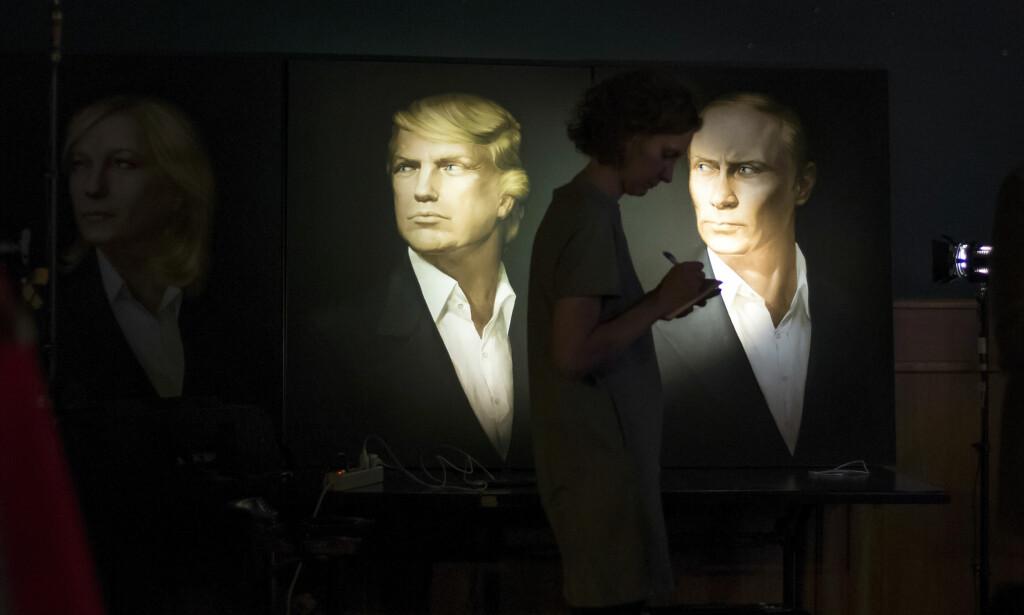 TRUMP OG PUTIN: Trump kan samarbeide mer med Russland for «å knuse IS». Å sende IS på historiens skraphaug har vært et av de få utenrikspolitiske målene Donald Trump har satt seg, skal vi tro hva han har sagt under valgkampen. Foto: AP /Alexander Zemlianichenko