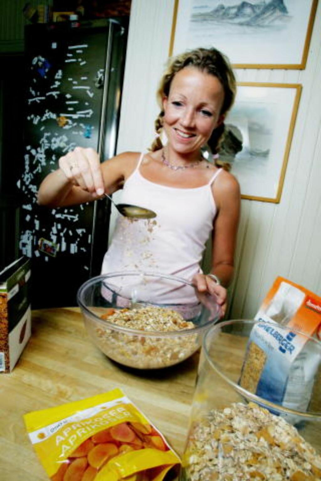 Spise rett: Ernæringsfysiolog Cathrine Borchsenius mener det vktigste for å få en god alderdom i møte, er å spise rett. Foto: Jeanette Landfald/Dagbladet