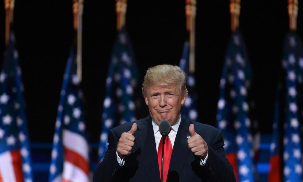 PRESIDENT: Donald Trump er USAs 45. president. Foto: NTB Scanpix
