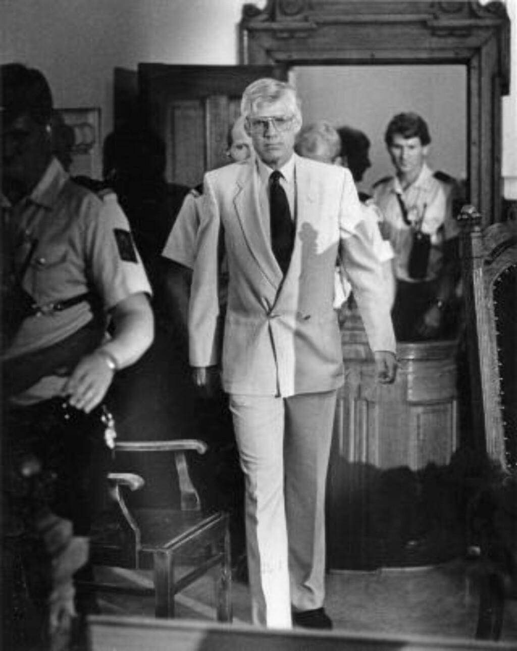 FIKK DOMMEN: I juni 1985 fikk Arne Treholt dommen på 20 år.  Foto: Geir Bølstad / Dagbladet