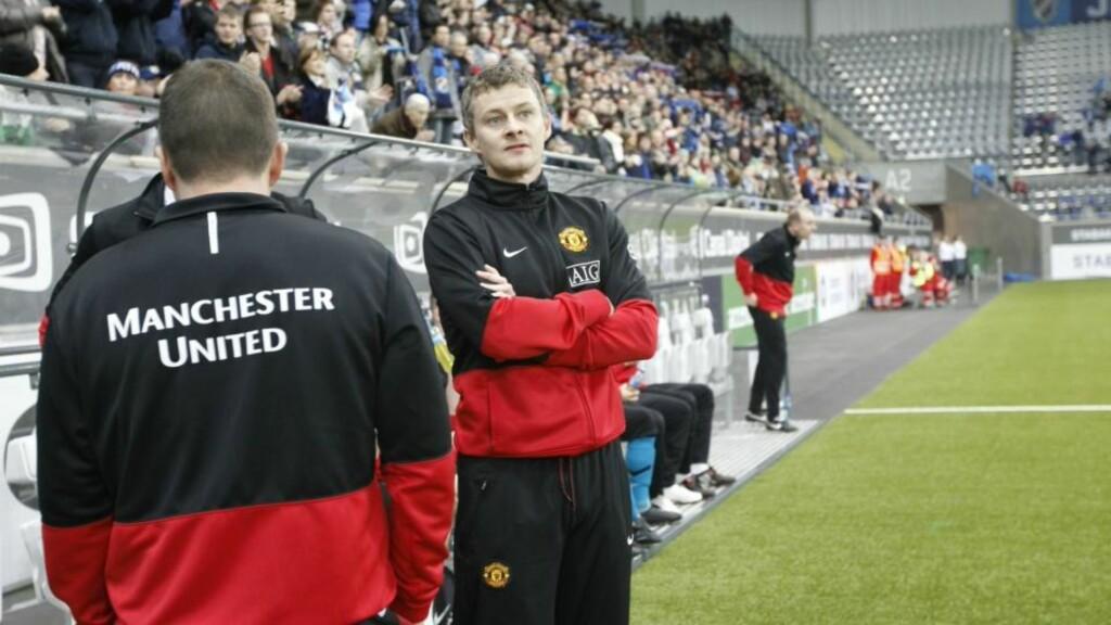 IKKE AVVISENDE: Ole Gunnar Solskjær har sagt til TV 2 at han gjerne snakker med Molde om en trenerjobb. Foto: Heiko Junge/SCANPIX