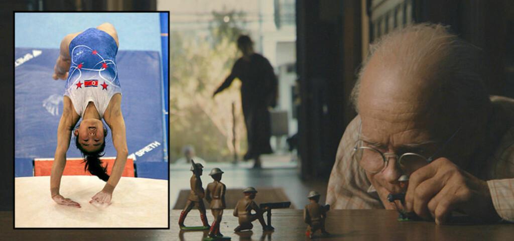 BLIR BARE YNGRE: Ifølge nordkoreanske opplysninger blir Hong Su Jong (innfeldt) yngre for hvert mesterskap. Nesten som novelle- og filmkarakteren Benjamin Button. Foto: AP og WARNER BROS./SANDREW METRONOME