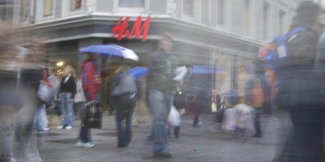 <strong>GODE SALGSTALL:</strong> Hennes &amp; Mauritz kan vise til svært gode salgstall det siste året. Foto: OLA SÆTHER