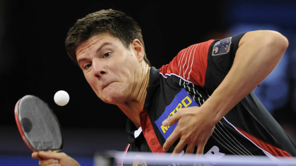 BLE TRODD: Den tyske bordtennisspilleren Dimitrij Ovtcharov ble trodd på at han hadde fått i seg clenbuterol via maten. Det er samme stoff som syklisten Alberto Contador har testet positivt på.  Foto: Daniel Maurer, AP/Scanpix