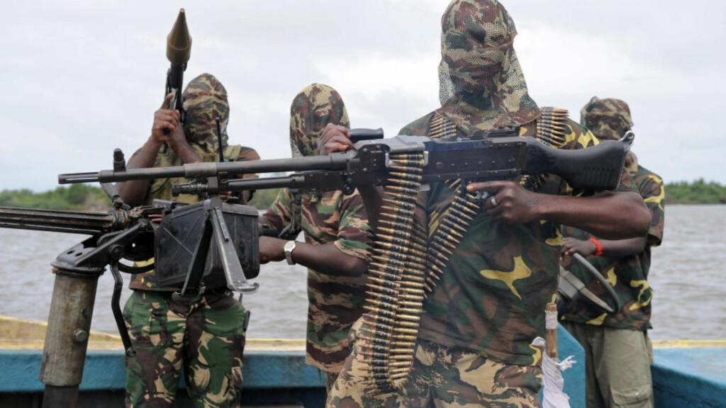 NYE TRUSLER: Den beryktede MEND-geriljaen i Nigeria. Foto: AFP/Scanpix