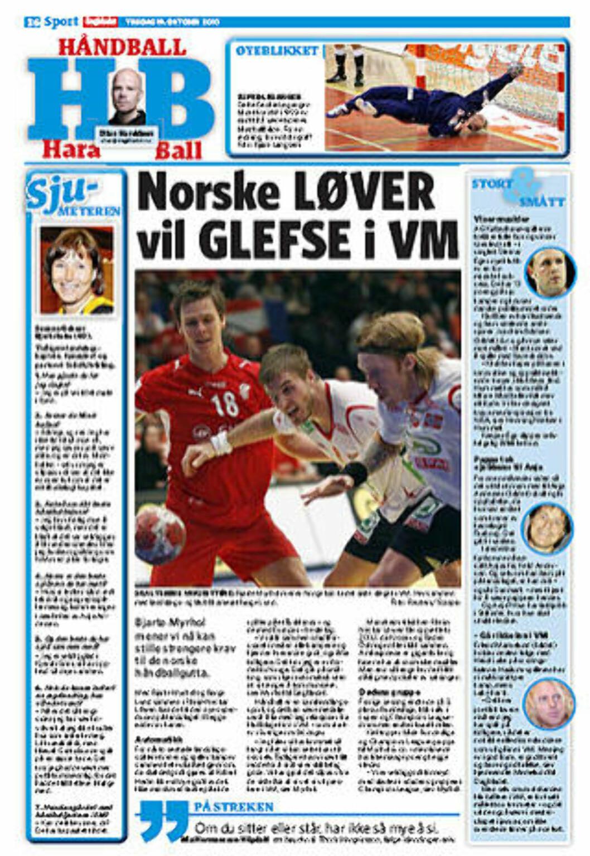 <strong>NY HÅNDBALLSIDE:</strong> Dagbladet lanserte i dag en ny håndballside, som skal stå på trykk annen hver tirsdag. Her vil vi skrive om smått og stort fra håndballen.