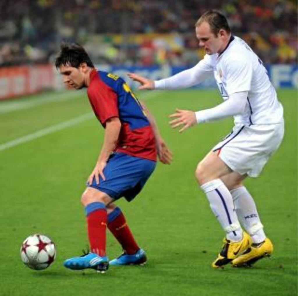 LOKKER SPANIA? Wayne Rooney hyllet Barcelona etter Champions League-finalen i 2009, og har hyllet Leo Messi flere ganger. Men er det Real Madrid som lokker spissen nå?Foto: SCANPIX/EPA/CLAUDIO ONORATI