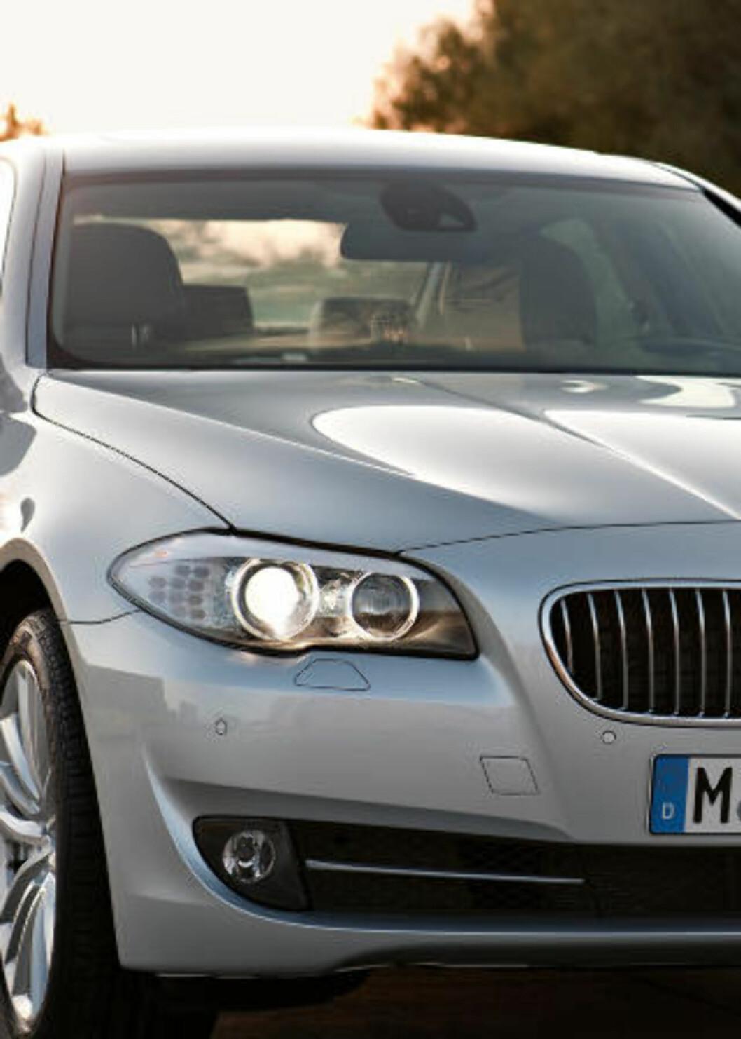 <strong>NORSK FAVORITT:</strong> 5-serien kombinerer BMWs sportslige image med forbedret komfort. Foto: SCANPIX