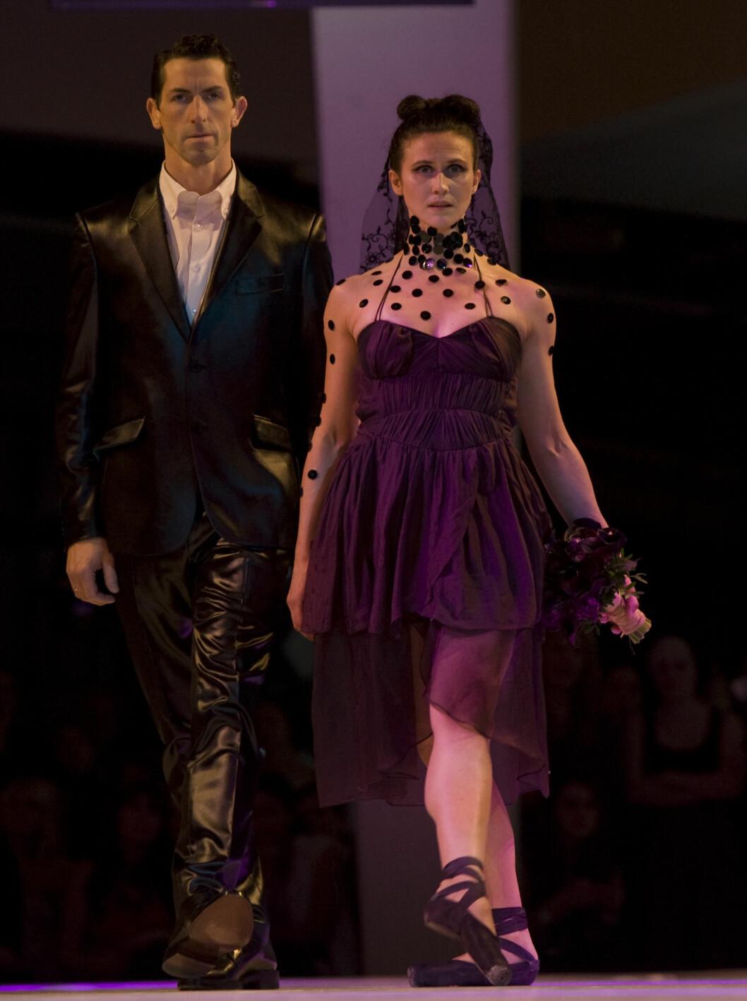 ELEGANT: Ingrid Lorentzen på åpningen av Oslo Fashion Week mandag kveld. Foto: SCANPIX